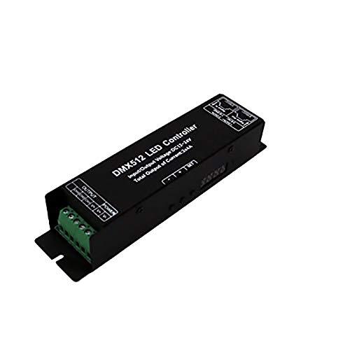 TOOGOO DMX Led Controller Mit Digitaler Display Anzeige Rohr Dmx512 Decoder Treiber Dimmer Dc 12 24V 3X4A Für RGB Led Streifen (3 Kan?le) - Digitale Anzeige-controller