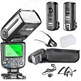 #3: Neewer® NW565N Professional i-TTL Slave Flash Kit for Nikon D7100 D7000 D5300 D5200 D5100 D5000 D3200 D3100 D3300 D90 D800 D700 D300 D300S D610, D600 D4 D3S D3X D3 D200 and All Other Nikon DSLR Cameras - Includes: Neewer