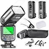 Neewer NW565EX i-TTL Slave Flash Kit Professionale per Fotocamere Nikon DSLR, Include: Neewer Flash + Trigger + Cavi + Diffusori + Copriobiettivo