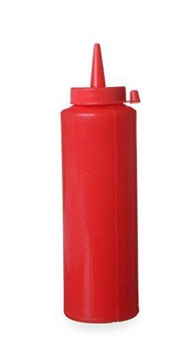 Hendi 557815 Spenderflasche für Saucen, 0,35 L, Polypropylen, Rot