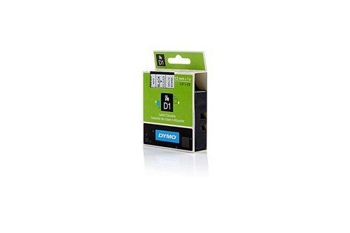 Preisvergleich Produktbild Original Etikettierbänder passend für Dymo Labelmanager 210 D Dymo S0720500 , Standard-D1-Band / S0720500 45010 - Premium Beschriftungsband - Schwarz