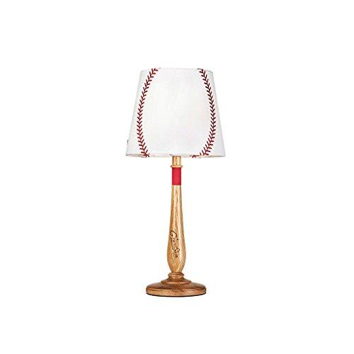 LSX- Schreibtischlampe Amerikanische Kinder Lampen, Schlafzimmer Nachttischlampe Kreative Holz Lampe Baseball Tisch LampSize 15 cm * 55 cm oyo (Color : Natural) -