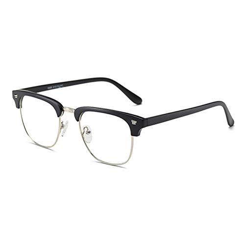 HPTAX-VB Spiegeln Rechteckige Halbrahmen Optische Anti-Blau-BrilleKeine Stärke-Brille