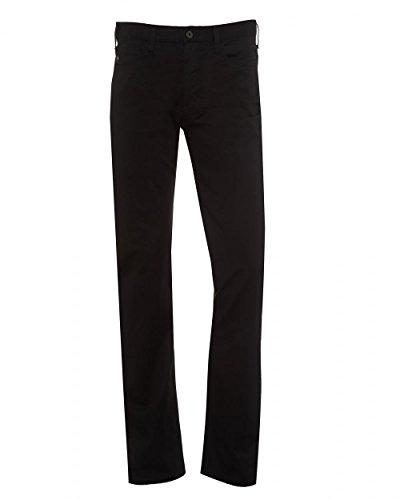 Emporio Armani Mens J21 Jeans, Comfort Stretch Gab Black Regular Fit Denim