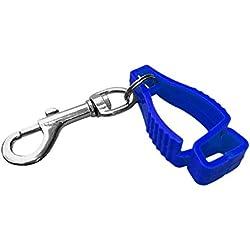 FLAMEER Profesional Hebilla de Guantes para Buceo Clip de Aseguración para Gorro de Deportes - Azul