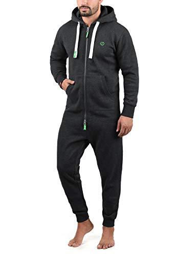 !Solid BennJump Herren Jumpsuit Sweat-Overall Onesie Mit Kapuze, Größe:L, Farbe:Dark Grey Melange (8288)