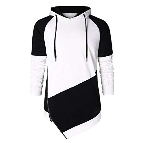 Moika t-shirt uomo,estate, autunno e inverno cuciture colore cerniera giacca maglione con cappuccio felpa con cappuccio con cappuccio casual uomo camicia felpa con cappuccio felpa