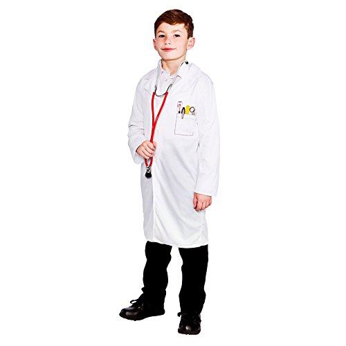 Imagen de disfraces malvados  bata párrafo disfraz médico para niño  134 146cm alternativa
