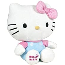 Hello Kitty - Peluche de Hello Kitty con un Lazo Rosa con cintas brillantes (Calidad