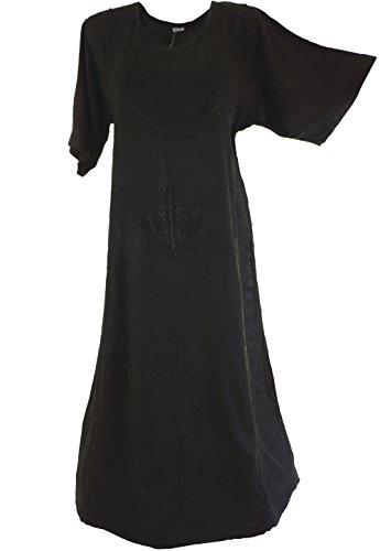Besticktes indisches Hippie Kleid in 4 Farben / Lange Kleider , alternative Bekleidung von (Indische Lange Kleid)