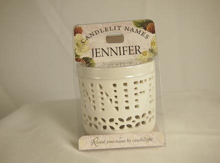 History & Heraldry Candlelit Names - Jennifer - Tea Light Lite Candle 001850105-HH by History & Heraldry