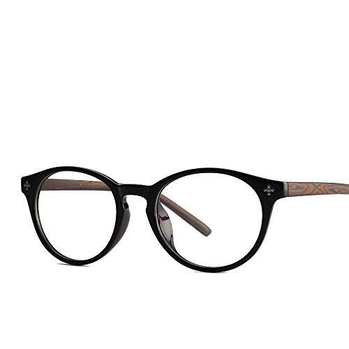 AdorabFrames Gläser Brillengestell Retro flacher Spiegel Beine aus Holzmaserung Brillengestelle...
