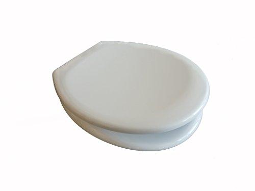ADOB Duroplast WC Sitz Klobrille Monza, Absenkautomatik, zur Reinigung abnehmbar, weiß, 49102