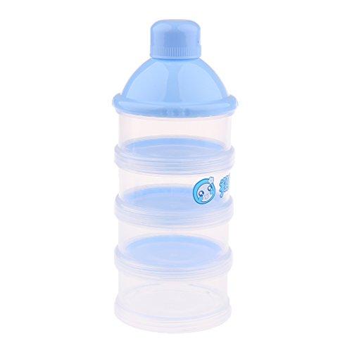Gazechimp Milchpulver-Portionierer Container zum Aufbewahren von Protein, Eiweiß, Pulver, Vitaminen - Blau