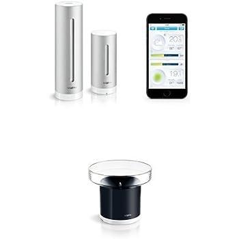 Netatmo Wetterstation für iPhone, Android und Windows Phone + Netatmo Regenmesser für Wetterstation