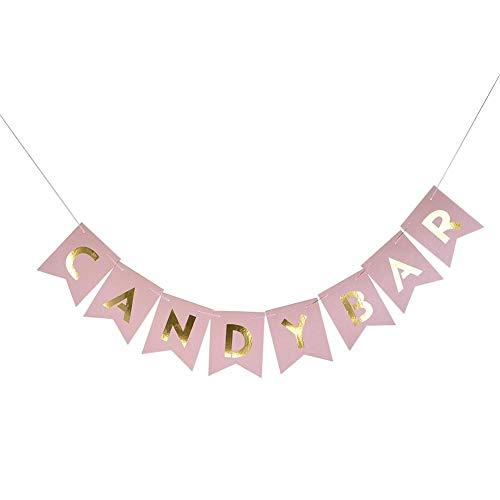 Steellwingsf Girlande mit Glitzerbuchstaben, Girlande zum Aufhängen, Dekoration für Hochzeit, Geburtstag, Party, Zubehör Rose - Und Home Bar Dekor Zubehör