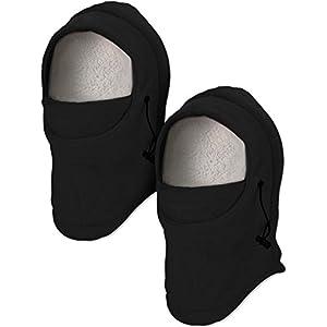 Jetec 2 Stücke Kinder Ski Maske Balaclava Gesichtsmaske Winddicht Halswärmer Einstellbar Vollgesicht Winter Warme Mütze