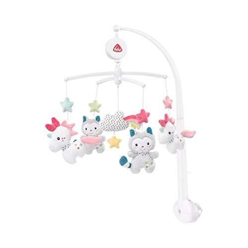 FEHN 057027 Musik-Mobile Aiko & Yuki / Spieluhr-Mobile mit niedlichen Figuren zum Beobachten, Lauschen & Staunen - Zum Befestigen am Bett für Babys von 0-5 Monaten
