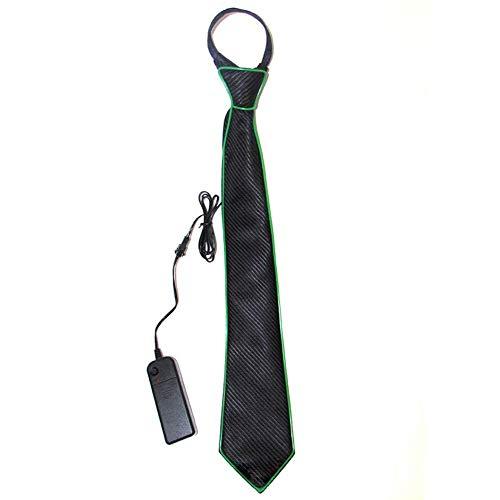 RecoverLOVE Luminous Light Up Tie Neuheit Krawatte Glow Dark Einstellbare EL Wire Glowing Neckwear Unisex Kostüm Krawatte für Party Kostüm Halloween (Halloween-kostüme Dark Glow)