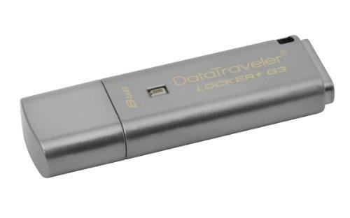 Kingston DataTraveler Locker Plus G3 USB 3.0 8GB Pen Drive (Black)