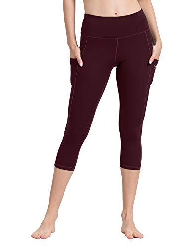 ALONG FIT ALONG FIT Sport Capri Leggings mit Taschen Damen Sporthose Yogahose Fitnesshose Yoga Leggings für Damen