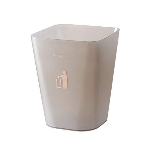 leimer Küche Wohnzimmer Badezimmer Schlafzimmer Cute Square Office Papierkorb Abfall- und Recyclingsystemkasten (Color : Gray, Größe : M) ()