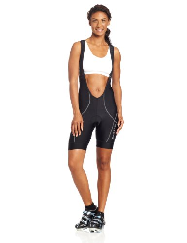 Craft Damen Active Bike Bib Short, damen, Black/ Steel (Bib Bike Active)