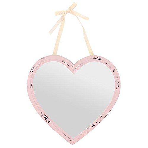 Rustikaler Spiegel Romance Pink–Herz shape-h: 40.00cm X W: 40.00cm X D: 1.10cm-free Porto