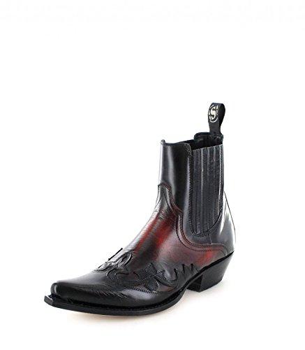 Sendra Boots 9396, Stivali western unisex adulto, Multicolore (Negro Rojo), 42