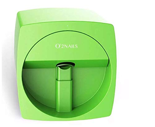 O2 Nails V11 Mobile Art Design Nail Printer Nails Art Designs! Color Cartridge Nails Printer IOS Android With WiFi Function, verde, 1