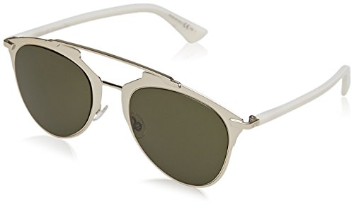 Dior Damen DIORREFLECTED 1E TUP 52 Sonnenbrille, Gold White/Green