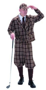 1930's Style Golfer Fancy Dress Costume