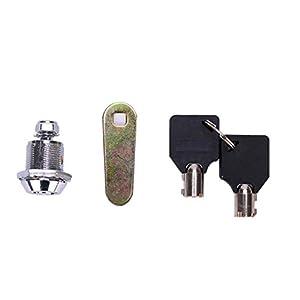 Woodrowjen Novelty Drawer Tubular Cam Lock für Tür Mailbox Kaffeemaschine Schrank 2 Schlüssel 20mm