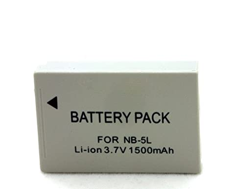 NB-5L 1500mAh battery For Canon PowerShot SX200 SX201 SX220 SX230 SD950 SD900 SD890 SD870 IS IXUS Digital 860 IS 900Ti NB-5L