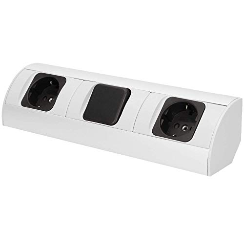 Möbel-Steckdose mit Schalter, Schuko Variante, Küchen Steckdose, Möbel Unterbausteckdose OR-AE-1304(GS) -