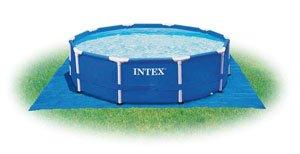 Tapis de sol pour piscine ronde jusqu a 4,57m - intex 58932