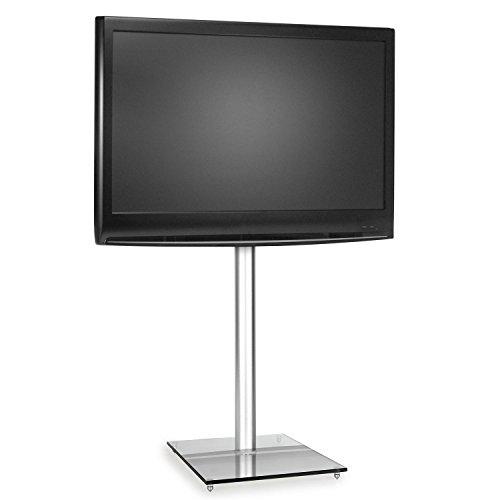 """electronic star TV Halterung Ständer Fernseherhalterung (Material: Glas, Aluminium, geeignet für LCD-Fernseher bis zu einer Größe/Bildschirmdiagonale von 38 bis 53 cm (15"""" bis 21"""") transparent"""