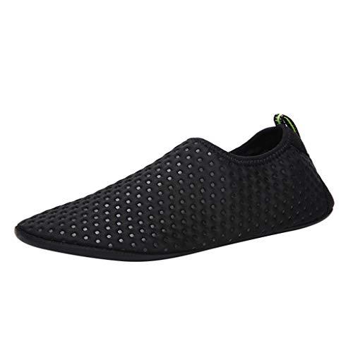 friendGG Damen Herren Wassersportschuhe Quick-Dry Aqua Beach Schuhe Yoga Socken Slip-On Sneaker Atmungsaktiv rutschfeste Mode Freizeitschuhe Wasserdicht Turnschuhe Leichte Outdoor Schuhe Wanderschuhe - Pailletten Knie-boot
