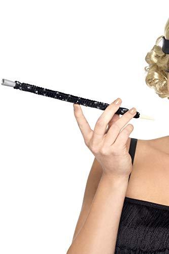 Smiffys Damen Paillettenbesetzter Zigarettenhalter, One Size, Schwarz, ()