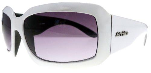 Elegante XL Damen Sonnenbrille von Strike - special Edition - weiß schwarz