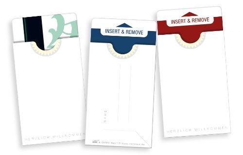 """keycard Hüllen / ZIMMERKARTENHÜLLEN / Hüllen für Schlüsselkarten /// 50 Kartenhüllen für Hotel-keycards im Scheckkartenformat - Design \""""single white\"""""""