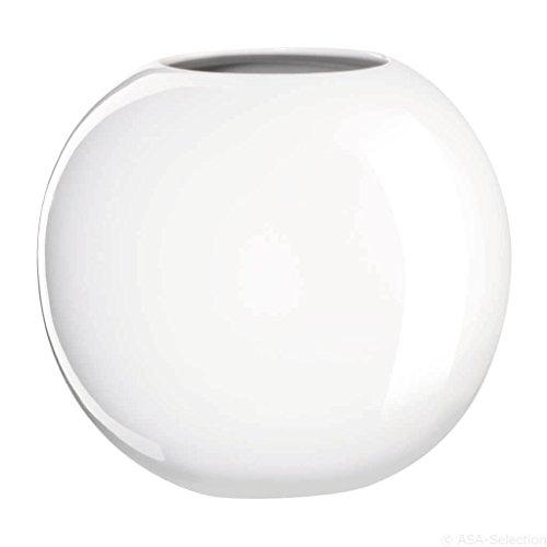 ASA Ball Vase, Keramik, weiß 15x17,5x15 cm