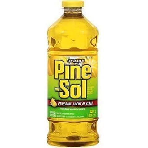 Pine Sol All Purpose Cleaner Fresh Scent, Lemon Bottle 48 Oz by (Pine Sol All Purpose Cleaner)