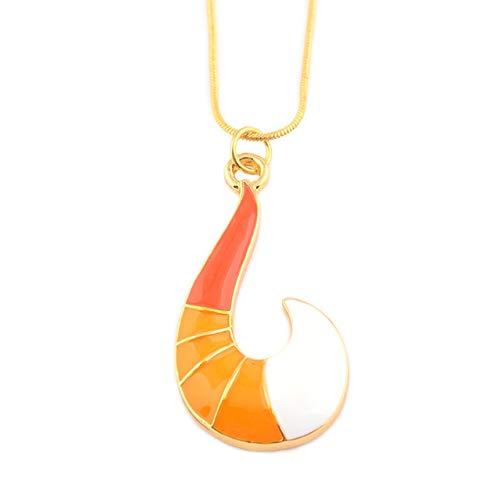 CWQAN Frauen Halskette, Mode Gold-Farbe Fuchsschwanz Halskette Diamant Anhänger Halsketten Metallkette Charme Choker Frauen Schmuck Halskette Geschenk (Gold-diamant-charme-halskette)
