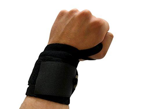 ActiveElite - Handgelenkbandage (2er Set) / Zughilfen / Handgelenkstütze / Handgelenkschoner / Bandagen / Latzughilfe - Für Sport & Fitness - Ideal für: Bodybuilding