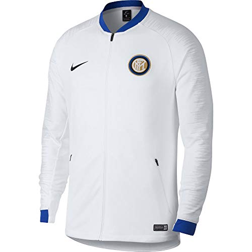 Nike Inter Milan Anthem Fußball-Oberteil für Herren, Hemd, S, Blau, Weiß, einfarbig, 2 Taschen