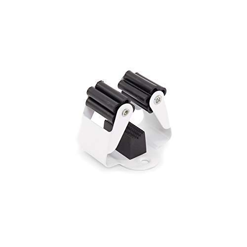 Malin-System - Premium Besenhalter 6er Set - Wandhalter aus Federstahl - als Wandhalterung, Werkzeughalter, Gartengerätehalter und Gerätehalter (Inkl. Schrauben und Dübel)