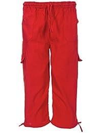 Tumia LAC - Pantalones ligeros para niño - 100% Algodón - Tejido cómodo y transpirable - Cintura elástica con cordón ajustable - Varios colores