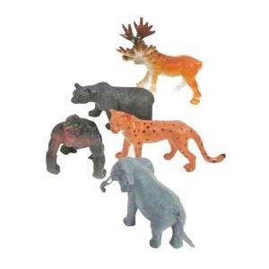 12er Set Zootiere 12-fach sortiert - ca. 5-7 cm, Löwe, Nashorn, Nilpferd, Kamel, Gepard, Bär, Elefant , Elch, Tiger, Giraffe und Zebra