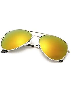 Kinder Pilotenbrille mit Edelstahl Metall Gestell Sonnenbrille Unisex 4sold